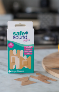 Safe and Sound Health's Assorted Finger and Knuckle Plasters for covers cuts and wounds on the fingers and knuckles