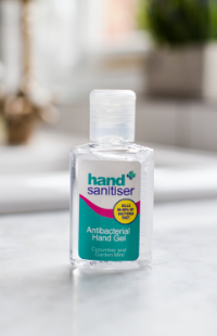 Safe and Sound Health's mini travel-size Hand Sanitiser