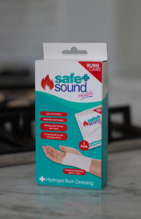Safe and Sound Health's Hydrogel Burn dressing for cooling and treating burns and scalds