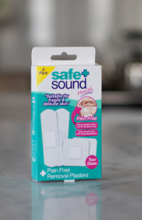 Pain-free removal plasters by Safe and Sound Health