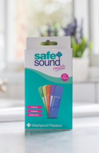 Safe and Sound Health's Multicoloured Washproof Children's Plasters
