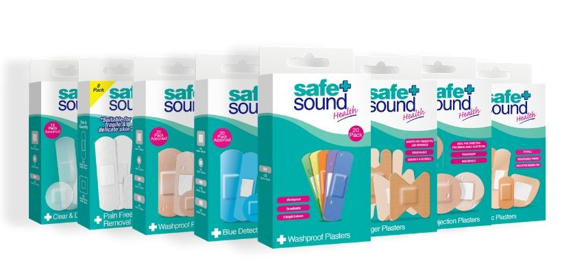 Safe and Sound Health's extensive range of plasters