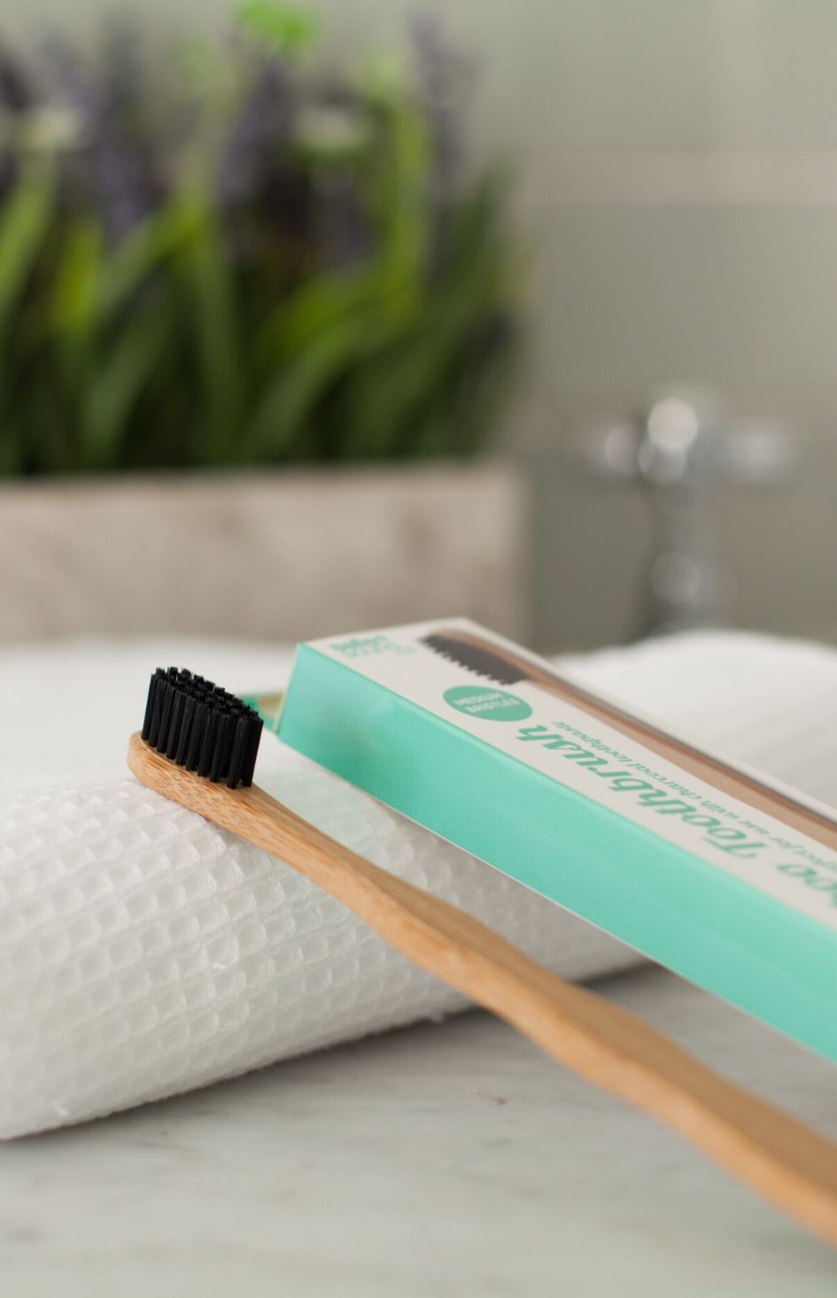 Plastic free bamboo toothbrush by Safe+Sound Health
