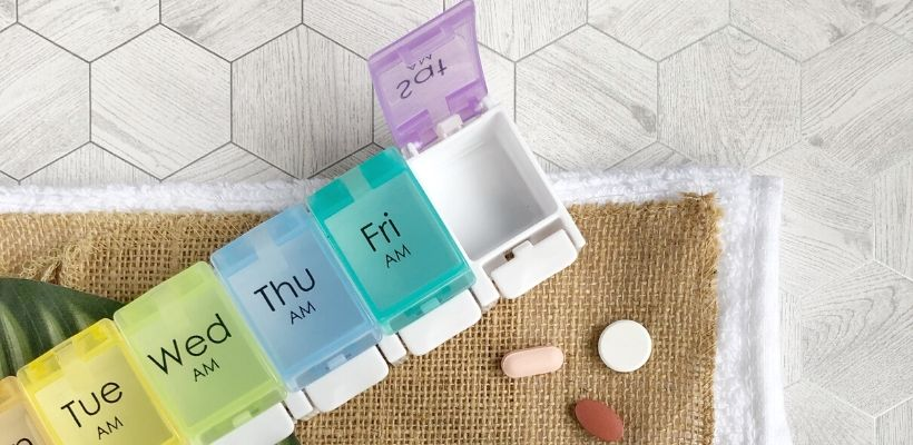 Safe and Sound Health's weekly pillbox can help you remember and organise your weekly medications