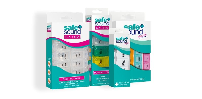Safe and Sound Health has a full and comprehensive range of pillboxes and pill organisers that manage and organise medications and prescriptions