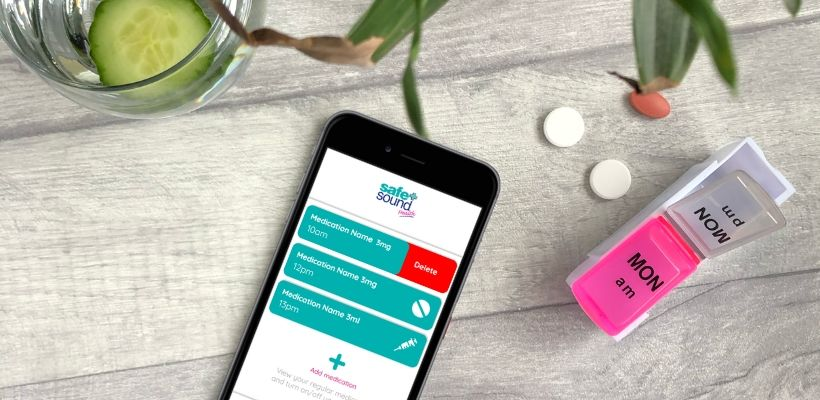 Safe and Sound Health's Pill Reminder App will send you personalised alerts to help you remember to take your medication