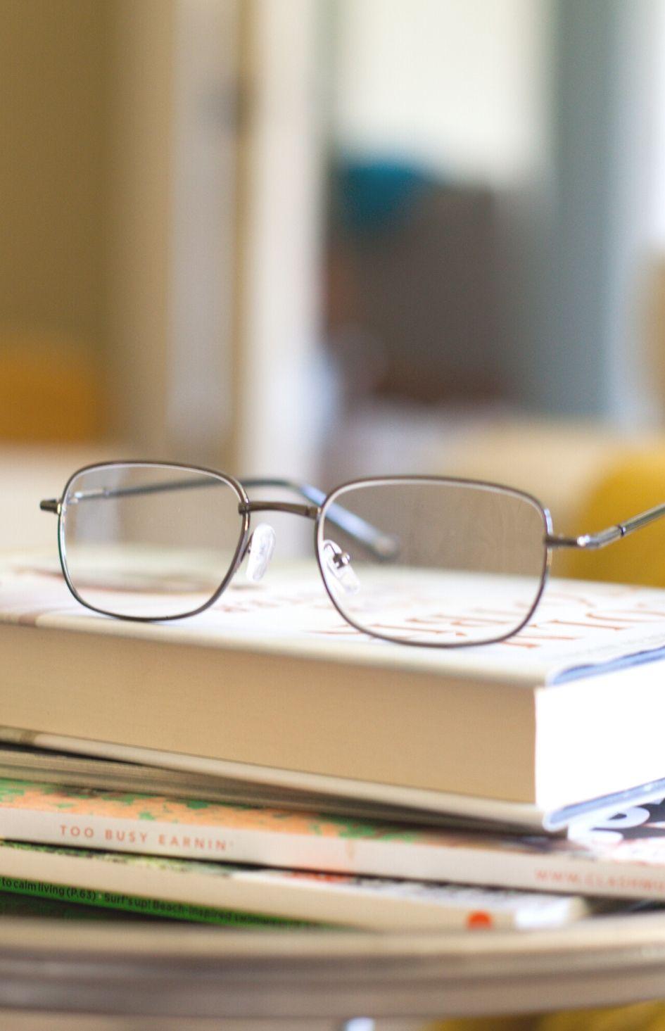Matt Black Reading Glasses 2.5 Dioptre by Safe+Sound Health