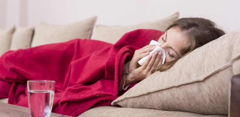 Getting plenty of rest and drinking fluid can help relieve congestion