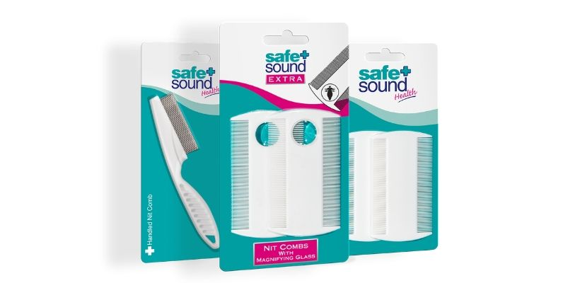 Safe and Sound Health's range of nit combs for detecting and removing head lice