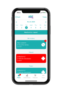 Safe and Sound Health's Pill Reminder App with medication adherence report