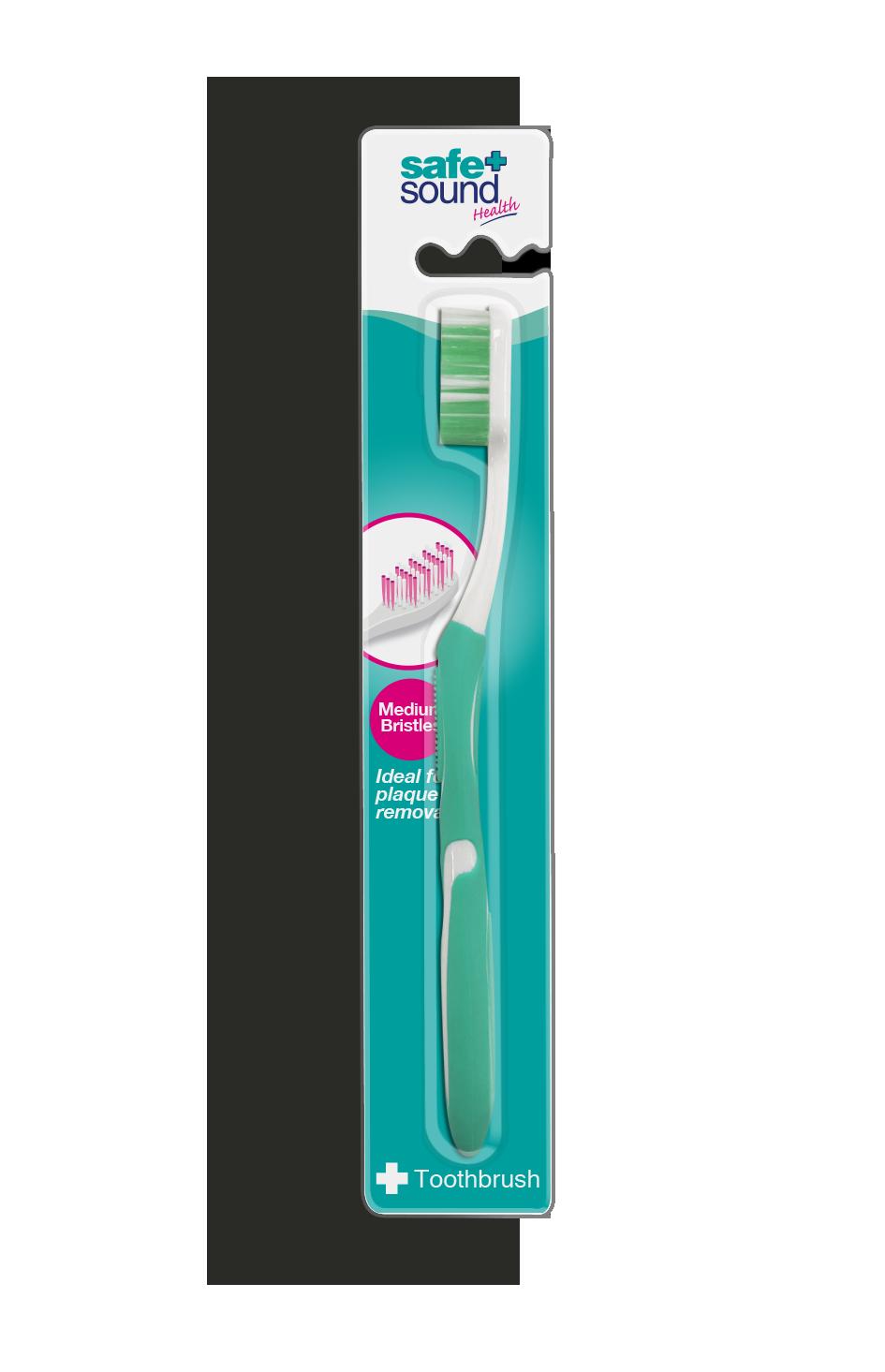 Safe and Sound Health Medium Bristle Toothbrush