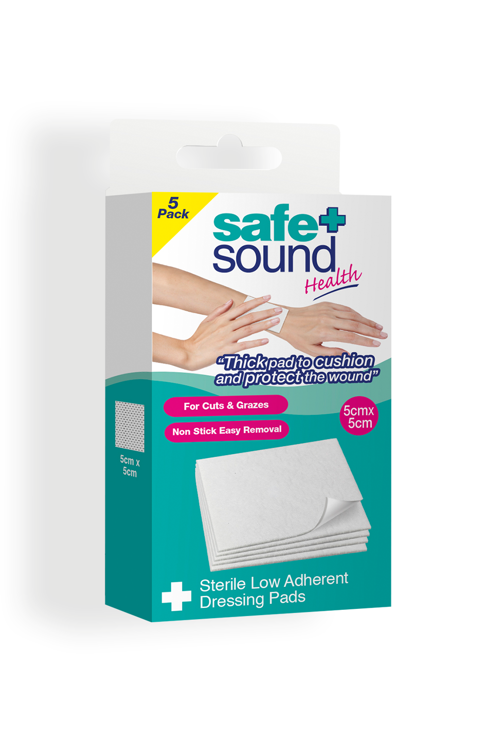 Safe and Sound Health Low Adherent Dressing Pad