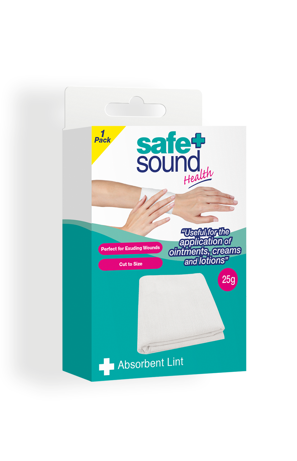 Safe and Sound Health Thick 25g Absorbent Lint