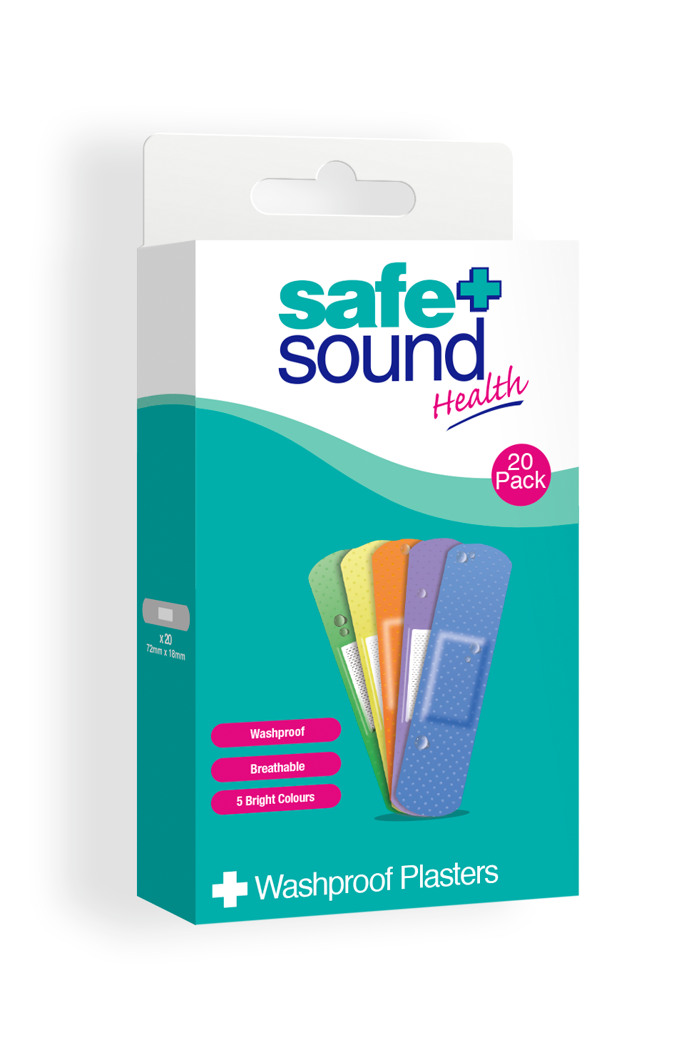 Safe and Sound Health's Multi-Coloured Glow Children's Plasters