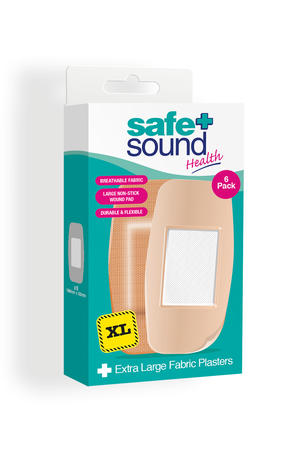Safe and Sound Health Extra Large Elbow and Knee Fabric Plasters