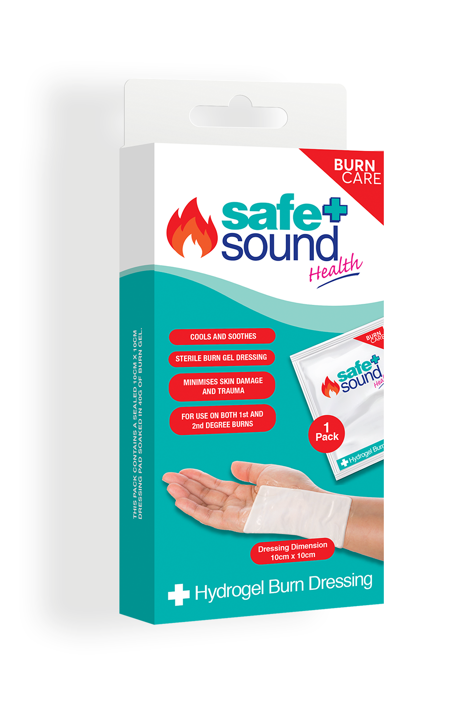 Safe and Sound Health Hydrogel Burn Dressing