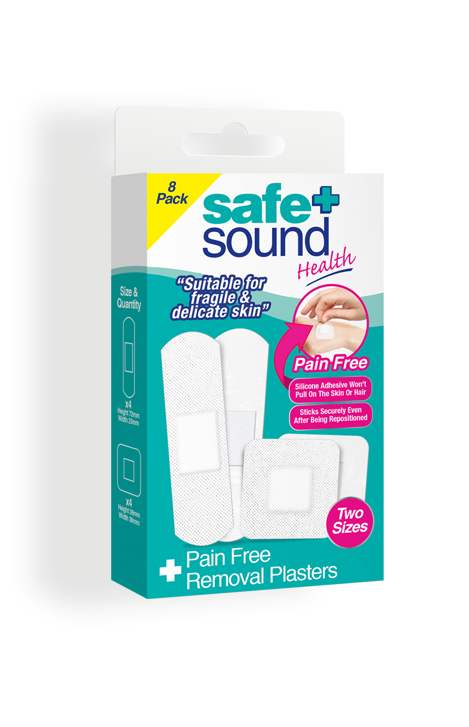 Safe and Sound Health Pain-free Removal Plasters