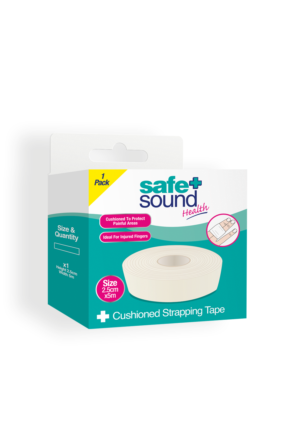 Safe and Sound Health's Cushioned strapping tape