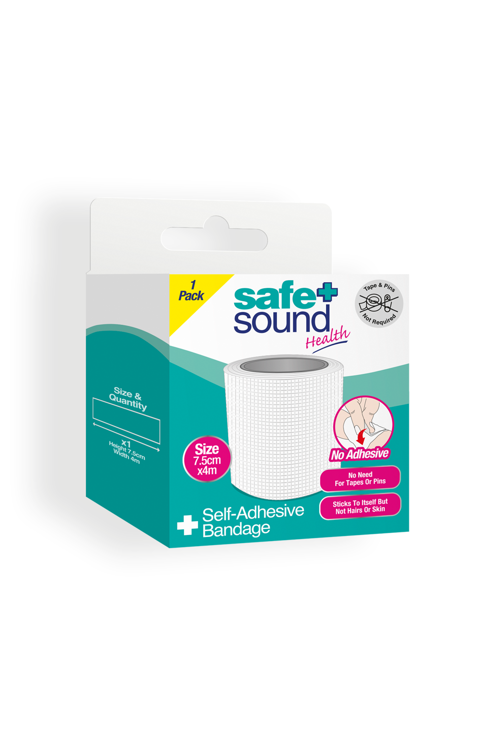 Safe and Sound Health's Self Adhesive Bandage 7.5cm x 4m