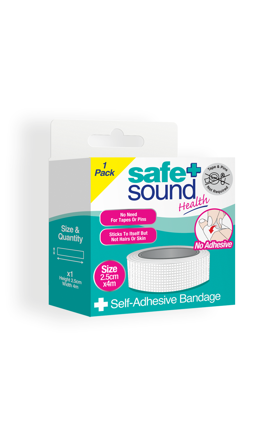 Safe and Sound Health's Self adhesive bandage 2.5cm x 4cm