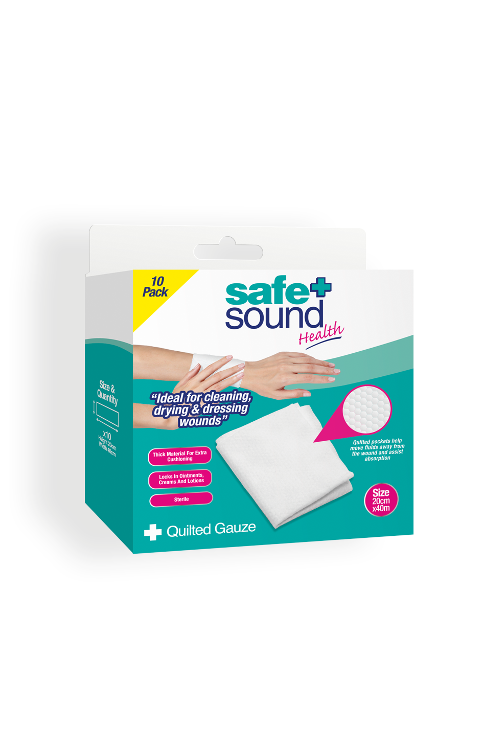 Safe and Sound Health's Quilted Gauze Pads x 10