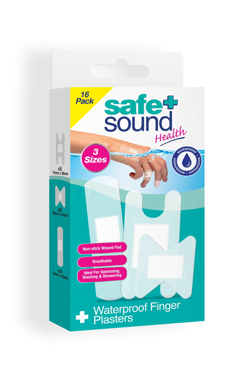 Safe and Sound Waterproof Finger Plasters