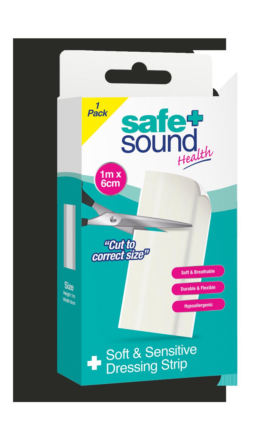 Safe and Sound Soft & Sensitive Dressing Strip