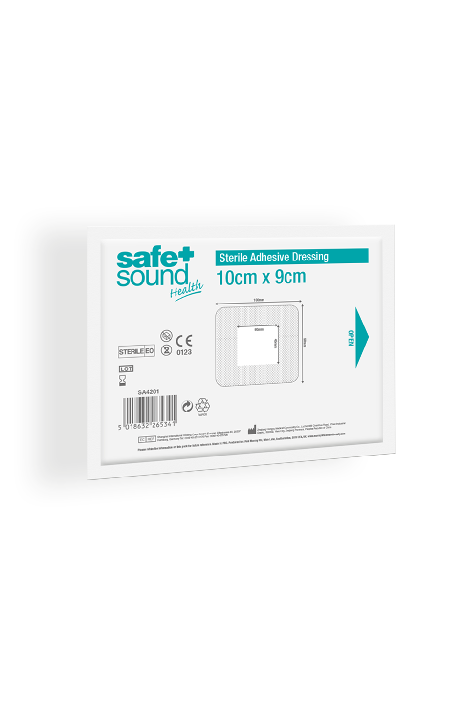Safe and Sound Health Adhesive Dressing 9x10