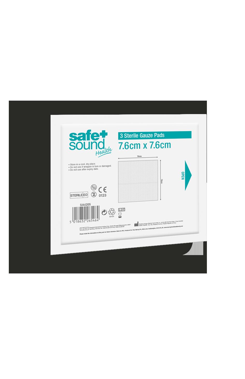 Safe and Sound Health Gauze Pads 7.6 x 7.6