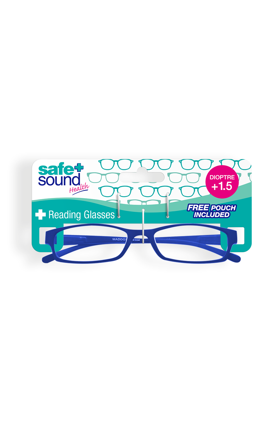 Safe and Sound Health Matte Finish Reading Glasses 1.5 Dioptre