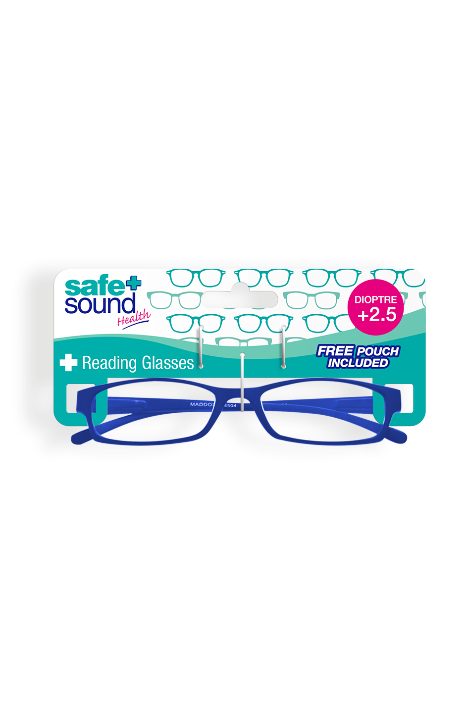 Safe and Sound Health Matte Finish Reading Glasses 2.5 Dioptre