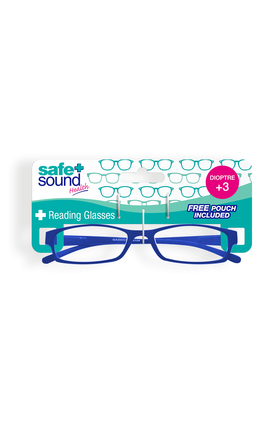 Safe and Sound Health Matte Finish Reading Glasses 3.0 Dioptre