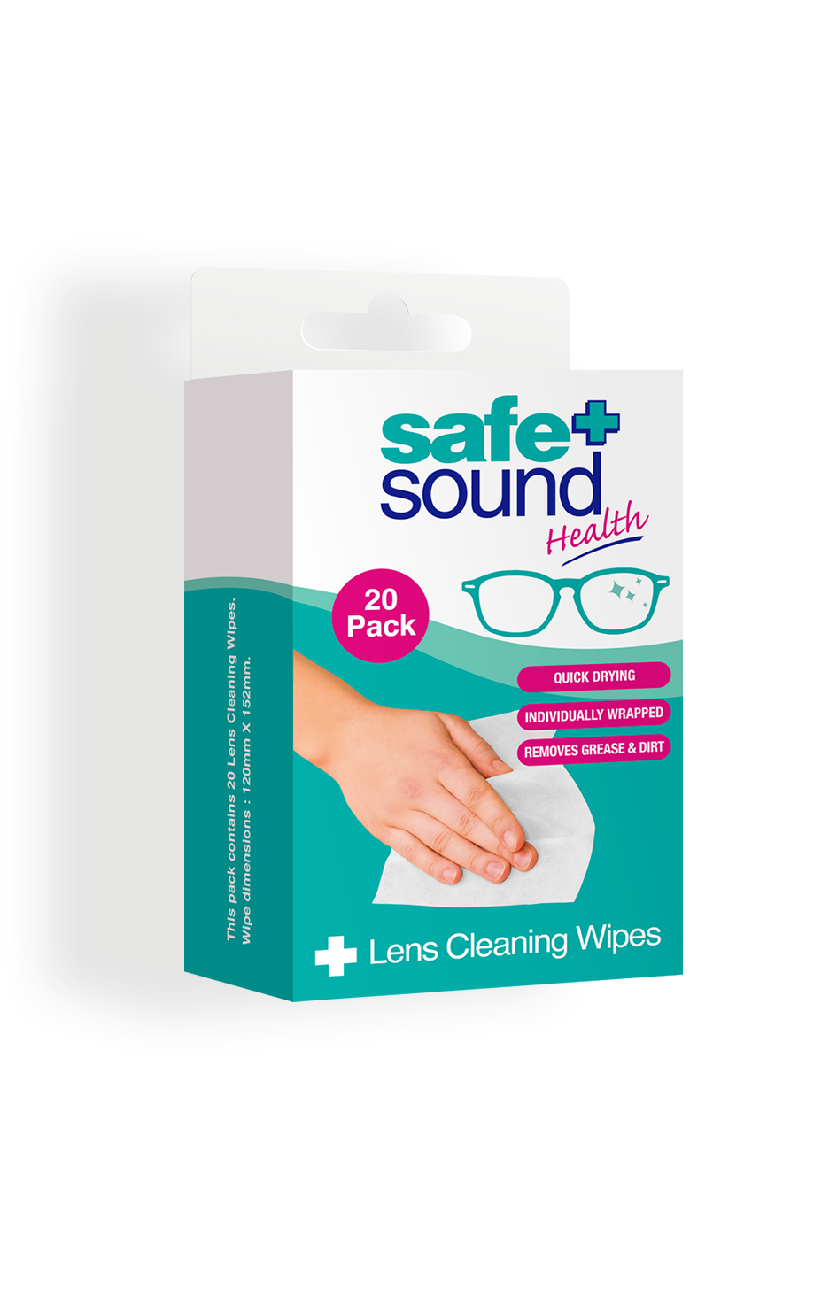Safe and Sound Health Lens and Glasses Cleaning Wipes