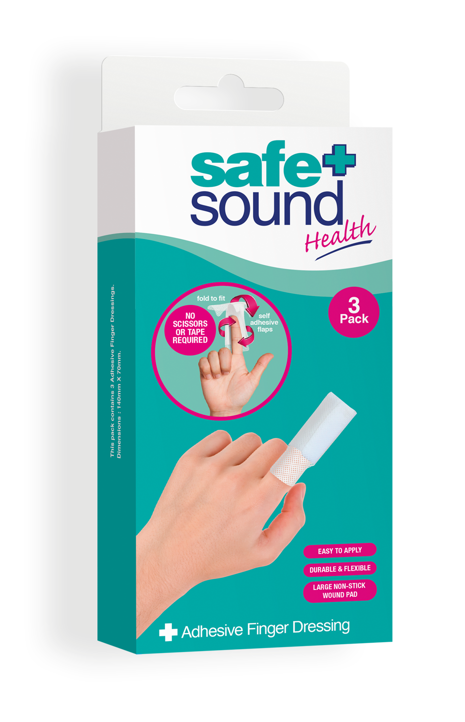 Safe and Sound Health Adhesive Finger Dressing