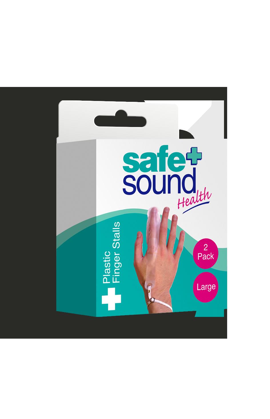 Safe and Sound Health Large Plastic Finger Stall