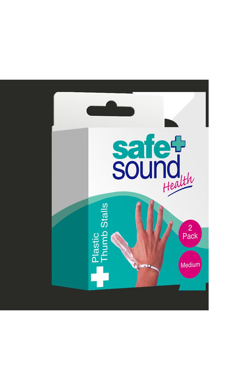 Safe and Sound Health Medium Plastic Thumb Stall