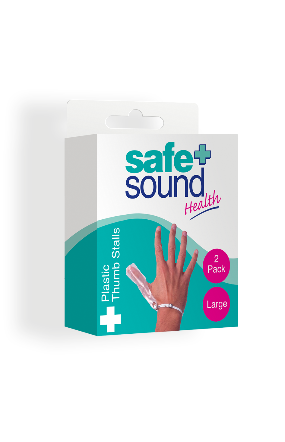Safe and Sound Health Large Plastic Thumb Stall