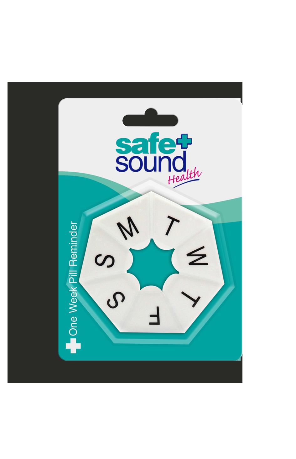 Safe and Sound Health Round Pocket Size 7 Day Pillbox