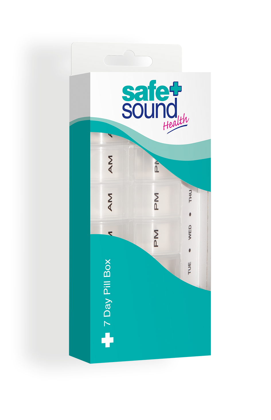 Safe and Sound Health Twice-Daily 7-Day Pillbox with Braille
