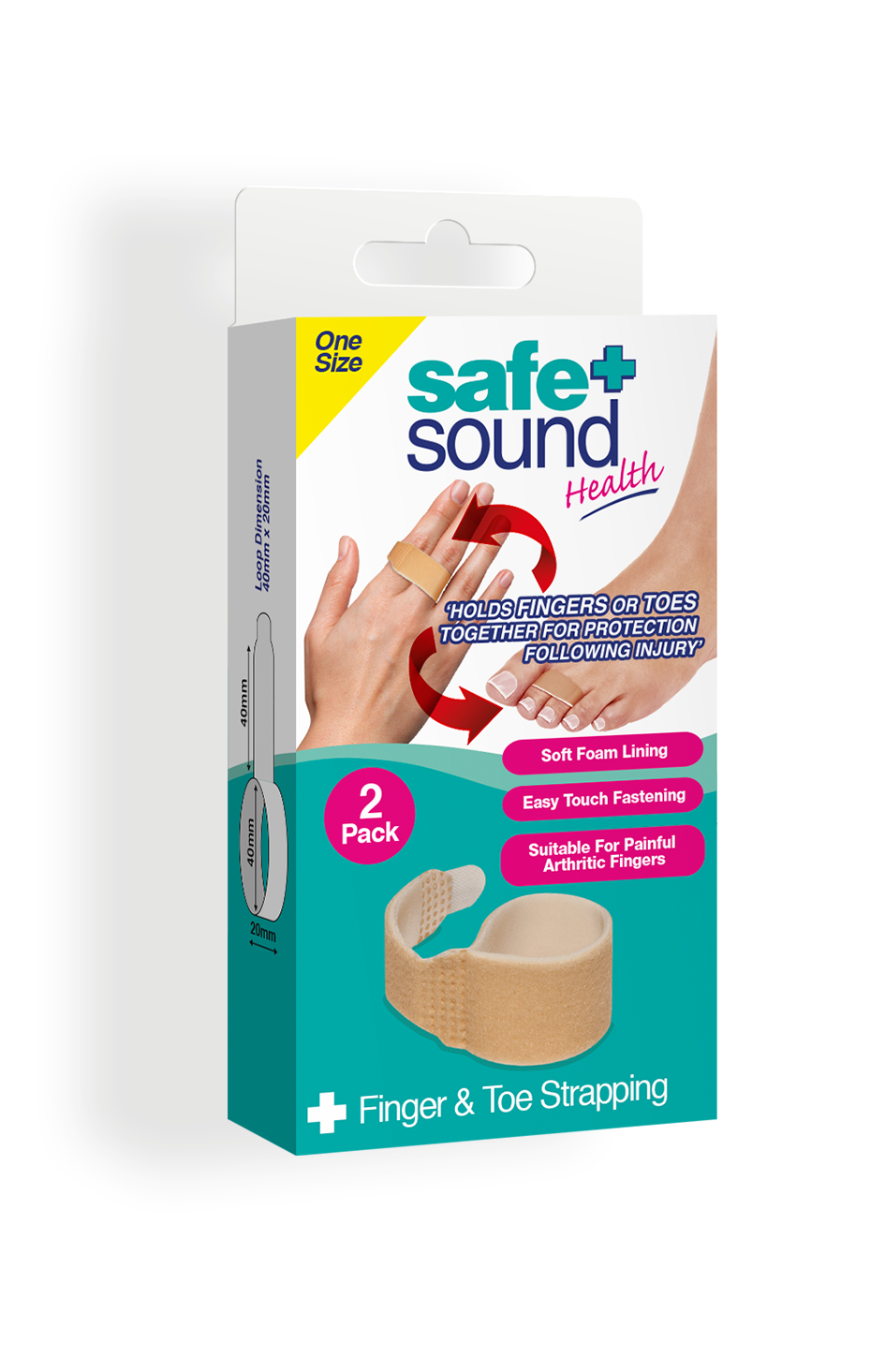 Safe and Sound Health Finger and Toe Buddy Strapping