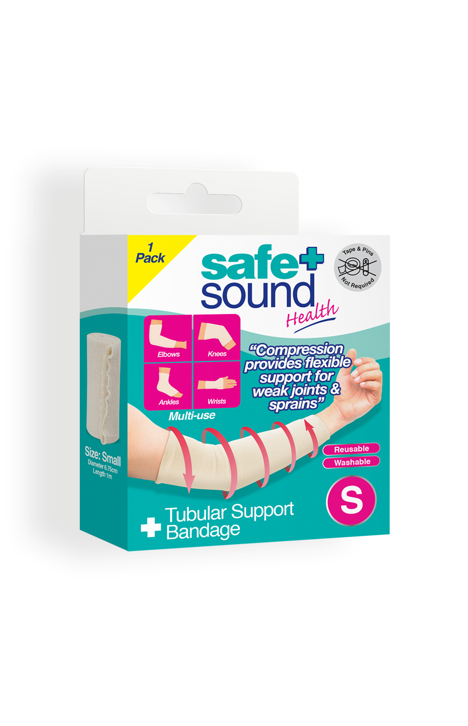 Safe and Sound Health Small Tubular Support Bandage