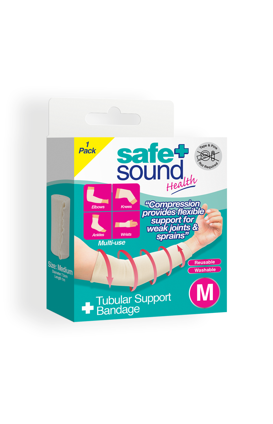 Safe and Sound Health Medium Tubular Support Bandage