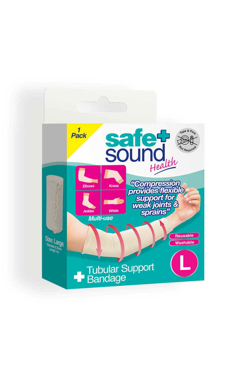 Safe and Sound Health Large Tubular Support Bandage