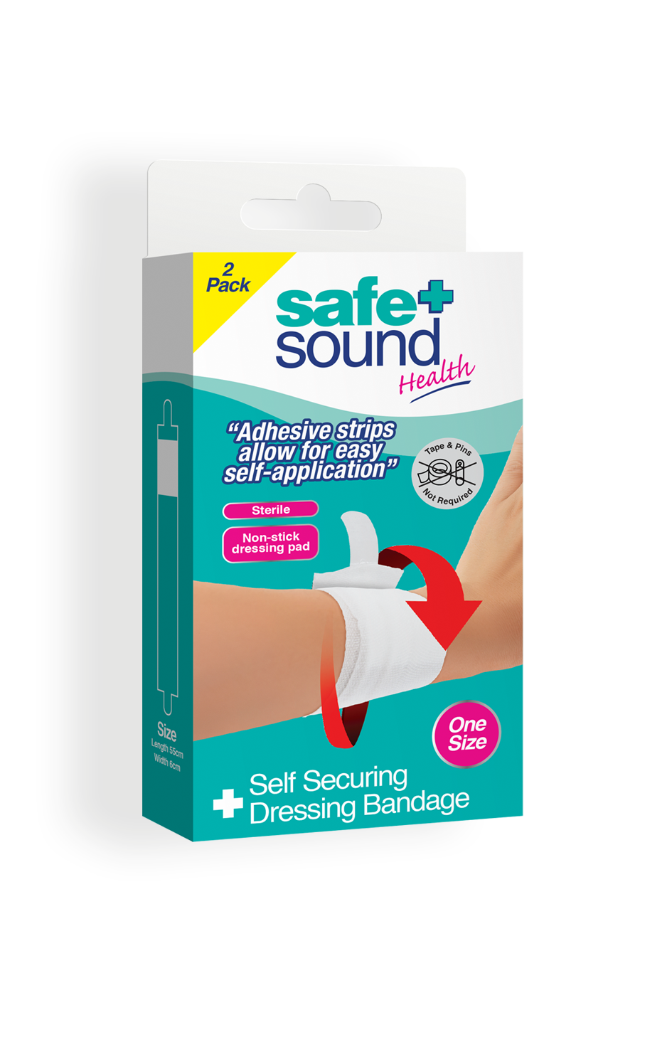 Safe and Sound Health Self-Securing Dressing Bandage