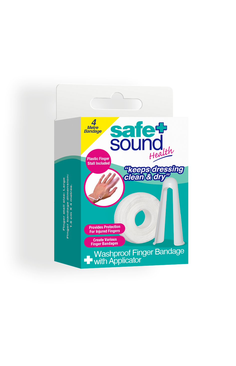 Safe and Sound Health Washproof Finger Bandage Applicator