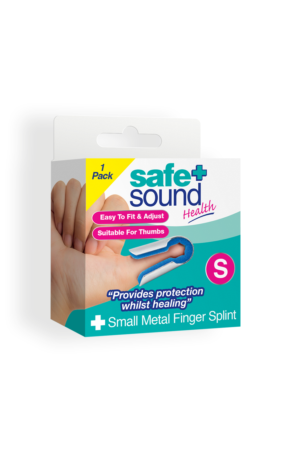 Safe and Sound Health Small Metal Thumb and Finger Splint