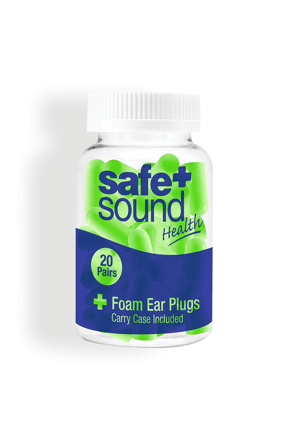 Safe and Sound Health Pack of 20 Foam Earplugs