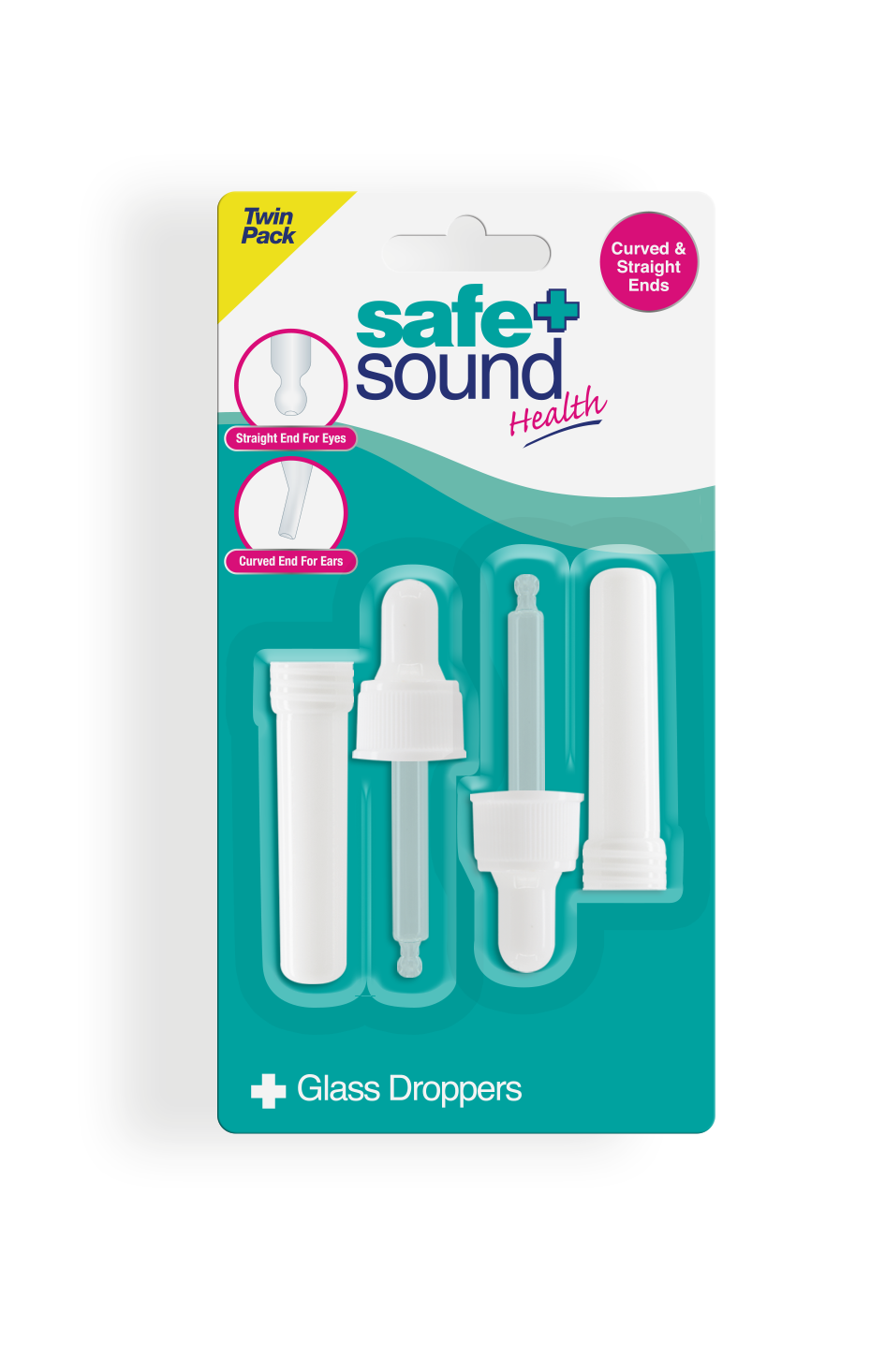 Safe and Sound Health Twin Pack of Glass Drop Counters