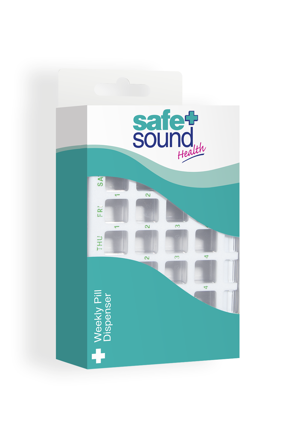 Safe and Sound Health Weekly Pill Dispenser