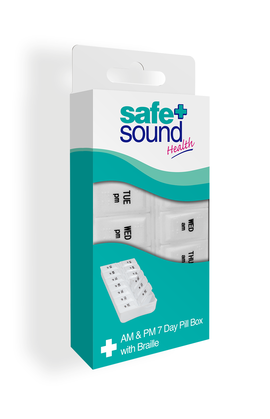 Safe and Sound Health Twice-Daily Braille Pillbox